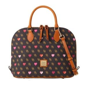Dooney & Bourke GRETTA HEARTS ZIP ZIP SATCHEL, NWT